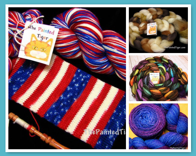 Sparkle Gradient Rainbow Yarn Hand Dyed Wool Fiber