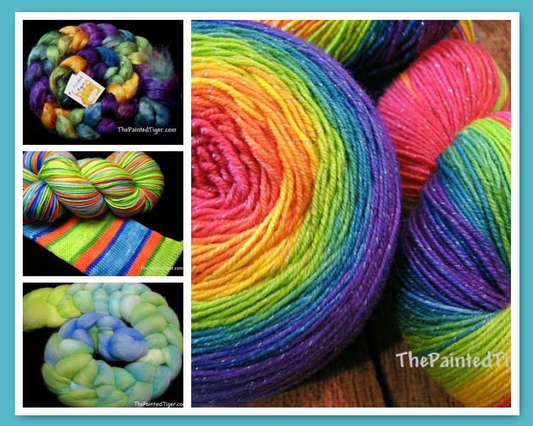 Hand Dyed Striping Sock Yarn and Spinning Fiber for Fall and Autumn