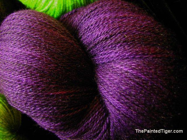 Aubergine Zephyr Silk Merino Lace Yarn