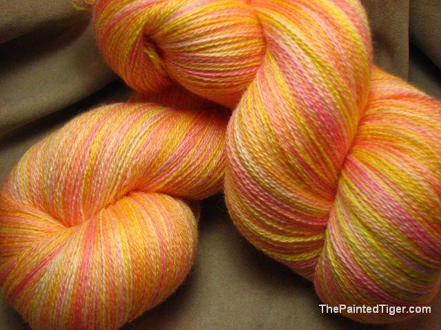 Dawning Kettle Dyed Zephyr Lace Yarn