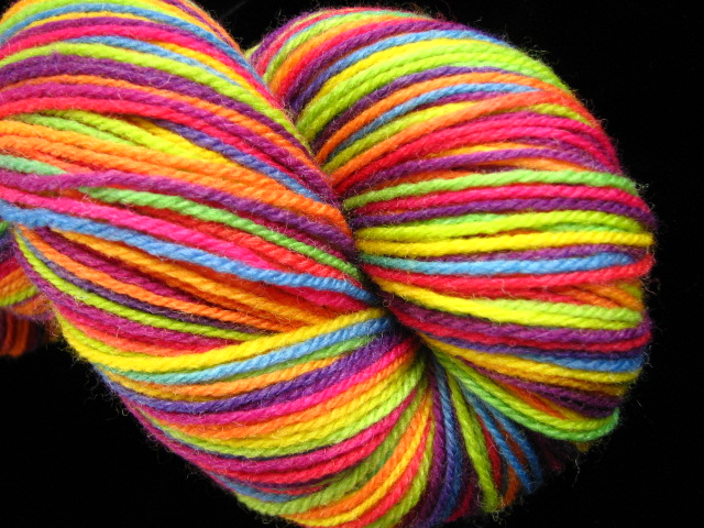Tropical Rainbow  Hand Dyed Superwash Merino  Nylon Sock Yarn