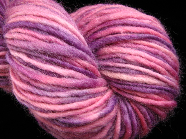 Princess  Hand Dyed Bulky Single Ply Lopi Style Yarn :  wool pink yarn bulky