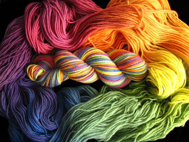 Hand Dyed Siberian Worsted Merino Yarn