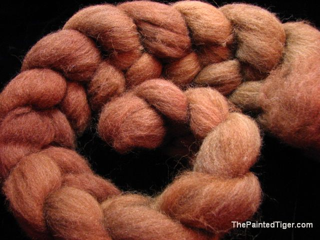 Spiced Chai - Moorit Shetland Combed Top
