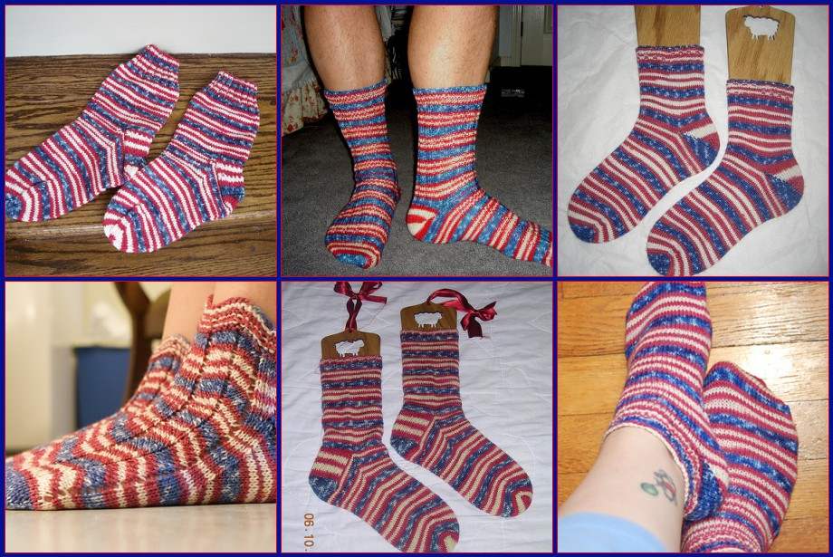 Customer Projects in Stars & Stripes Forever Striping Sock Yarn