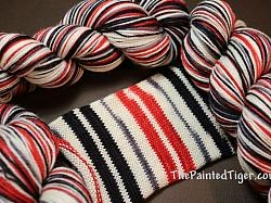 Apple for Teacher Stripe - Safari Sock Yarn