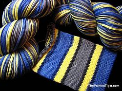 Blue Angels on Journey Sock Yarn