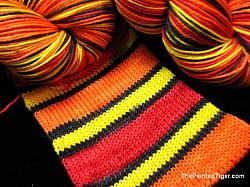 Campfire Stripe - Journey Sock Yarn