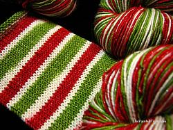 Christmas Stripe on Sparkle Sock