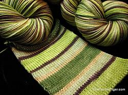 Forest Stripe - Journey Sock Yarn