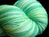 Nessie - Blue-green ombre Hand Dyed Superwash Merino and Nylon Sock Yarn