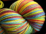 Color Wheel - Rainbow Superwash Merino & Nylon Hand Dyed Sock Yarn