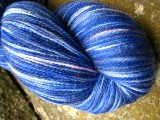 Electric Blue - MerinoTabby Lace Yarn
