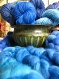 Semi-Club for May - Pick your yarn or fiber base - BLUE