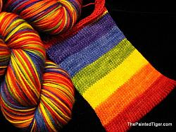 Rainbow Stripe - Journey Sock Yarn