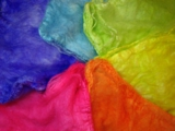 Tropical Rainbow Mawata Silk Hankies