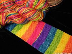 Tropical Rainbow Stripe - Journey Sock Yarn