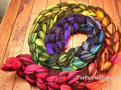Tropical Rainbow Gradient on Jacob Humbug 8 oz