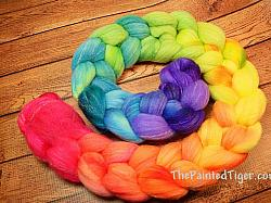 Tropical Rainbow Fade Gradient - Targhee Bamboo Silk