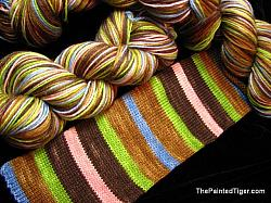 Woodland Wildflowers Stripe Safari Sock Yarn