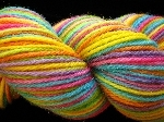 Tropical Rainbow Jaguar Worsted Wool Yarn